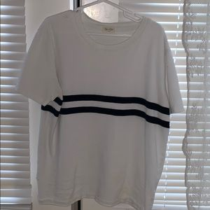 White shirt with stripes